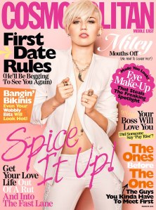 MILEY CYRUS at Cosmopolitan International Covers, March 2013 Issue